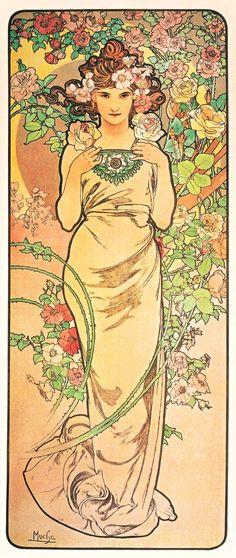"""  Alphonse Mucha - Rose """