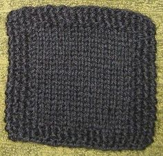 Simple Seed Stitch Coaster 6 or 4 mm  Yarn Weight: (4) Medium Weight/Worsted