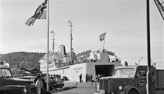 Oslo M/S Holger Danske ved kai 1962