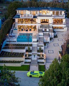 Dream House Exterior, Dream House Plans, Dream Home Design, Modern House Design, Casas The Sims 4, Dream Mansion, Luxury Homes Dream Houses, Dream Homes, Home Fashion