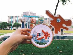 Textile Artist Creates Travel Snapshots With Needle and Thread