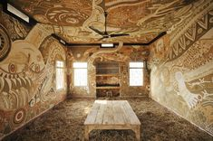 A Sprawling Mud Mural by Yusuke Asai Brings Art Into Classrooms in India  http://www.thisiscolossal.com/2014/05/a-sprawling-mud-mural-by-yusuke-asai-brings-art-into-classrooms-in-india/