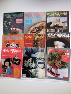 Lot 6 Vintage 1991 Tole World Magazines Decorative Painting Back Issues January   December
