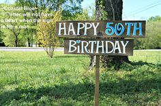 Birthday Party Yard Sign Happy Birthday by CountryWeddingSigns, $45.00