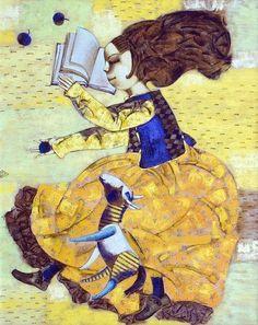The readers are growing / Las lectoras crecen (ilustración de Alexander Demidov)
