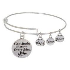It's so true! #Gratitude changes everything! #Bangle #Charm