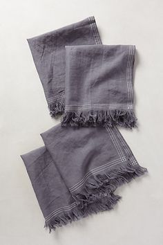 Stitched Linen Napkins - anthropologie.com $108.00