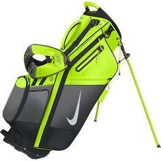 Volt / Dark Grey Nike Ladies/Men's Air Hybrid Stand Carry Golf Bag at #lorisgolfshoppe