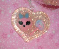 Gorgeous Pink White and Blue Heart Pendant by GlamCandyBoutique, $22.00
