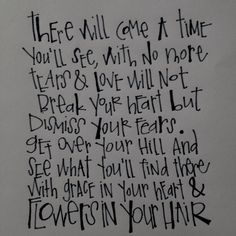 I love this lyric :) - mumford and sons