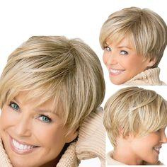 Bob Haircut For Fine Hair, Thin Hair Cuts, Short Hairstyles Fine, Short Hairstyles For Thick Hair, Short Hair Older Women, Haircut For Older Women, Short Straight Hair, Short Hair With Layers, Wig Hairstyles