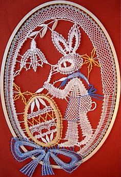 Neue Klöppelmuster August 2008 Bobbin Lace Patterns, All Craft, String Art, Decorative Plates, Hare, Artwork, Rabbit, Crafts, Animal