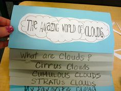 first grade clouds - i would have my kids do their own research writing for third grade