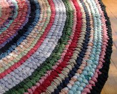 'Toothbrush' rag rug