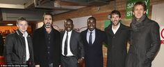 Legends: Former players Solskjaer, Cantona, Yorke,Cole, Van Nistelrooy, and Van der Sar