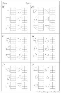 Lernstübchen: Gedächtnistraining 6 Felder 6 Formen (2)