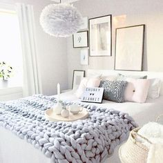 Cozy teen bedroom, cozy white bedroom, soft grey bedroom, adult bedroom d. Soft Grey Bedroom, Cozy Teen Bedroom, Bedroom With Bath, Small Room Bedroom, Trendy Bedroom, Bedroom Colors, Girls Bedroom, Bedroom Decor, Bedroom Ideas