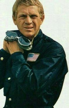 Steve McQueen in his Barbour waxie!
