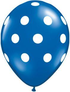 "Sapphire Blue Polka Dot Balloons 11"" bakeitpictureperfect.com"