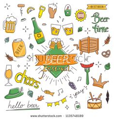 Beer festival in hand drawn doodle style vector illustration Beer Ingredients, Brew Your Own Beer, Beer Festival, My Doodle, Best Beer, Art For Sale, How To Draw Hands, Doodles, Design Inspiration