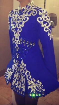 6 Months Old Royal Blue And White   Siopa Rince Dress