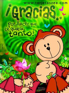 monos Manolo y manuela recostados en un tronco© ZEA www.tarjetaszea.com