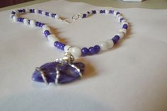 'Lovely Grape and White Necklace' is going up for auction at  3pm Thu, Jun 21 with a starting bid of $9.