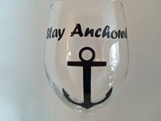 Wine Glass Stay Anchored wine glasses by YouniquelyElegant on Etsy, $12.00