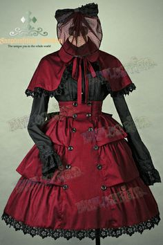 Gothic Lolita Steampunk: Round Lapel Cotton Embroidery Cape*3colors Instant Shipping - fanplusfriend