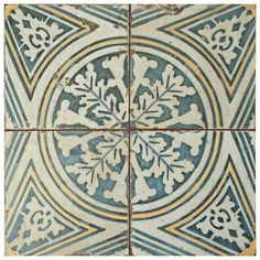 Add a touch of vintage industrial design to your home decor by choosing this Merola Tile Kings Flatlands Ceramic Floor and Wall Tile. Shower Floor, Tile Floor, Ceramic Wall Tiles, Style Retro, Motif Floral, Tuscan Style, Fireplace Surrounds, Reno, Stone Tiles