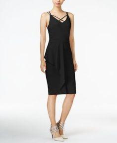 Bar Iii Draped Bodycon Dress, Only at Macy's - Black XXS