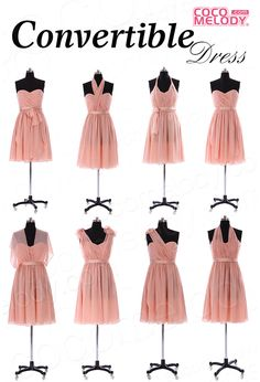 Convertible Dress, many colors available! One dress with so many different ways to wear, never miss it ! #cocomelody