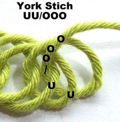 Nadelbinden : York-Stich