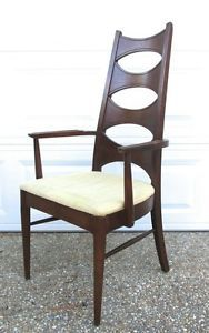 Vtg-Mid-Century-Danish-Style-High-Back-Ladder-Desk-Side-Chair-Modern-Hipster