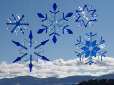 Fused Glass Snowflake Ornament and Suncatcher by MickeysDesigns