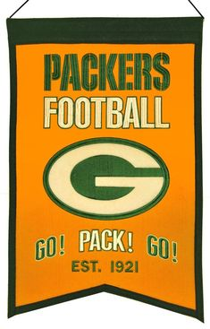 Green Bay Packers Banner 14x22 Wool Franchise