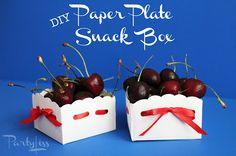 diy paper plate snack box