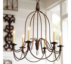 Armonk Chandelier at Pottery Barn Pottery Barn Chandelier, Kitchen Chandelier, Chandelier In Living Room, Bronze Chandelier, Kitchen Lighting Fixtures, Rustic Chandelier, Dining Room Lighting, Simple Chandelier, Bathroom Lighting