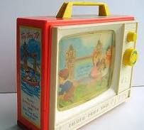 Fisher Price Tv Music box ~ I remember this, but not sure if we had one or if it was a toy in one of the church nurseries I've been to.