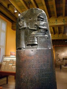 The Code of Hammurabi - a cast of the original, which is in the Louvre. {Oriental Institute, Chicago} #archaeology #writing