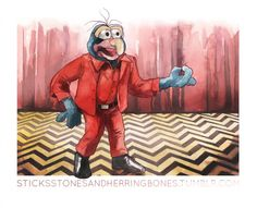 The Weirdo from Another Place (Gonzo as a Twin Peaks Muppet)