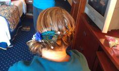 Peacock wedding hair