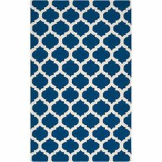 Handcrafted wool flatweave with a quatrefoil motif.   Product: RugConstruction Material: 100% WoolColor: Midnight blue and ivoryFeatures:  HandcraftedMade in IndiaReversibleFlatweave Note: Please be aware that actual colors may vary from those shown on your screen. Accent rugs may also not show the entire pattern that the corresponding area rugs have.Cleaning and Care: Blot stains