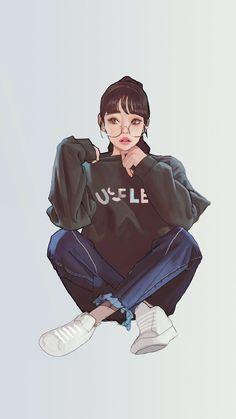BadassGirlsQuotes Wallpapers for Girls, GirlyWallpapers Cartoon Girl Drawing, Girl Cartoon, Cartoon Art, Swag Cartoon, Cool Anime Girl, Anime Art Girl, Anime Teen, Pop Art Wallpaper, Wallpaper For Girls