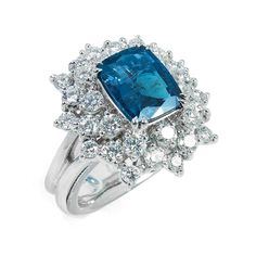 Rosamaria G Frangini | High Blue Jewellery | Alexandrite and diamonds platinum ring