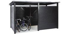 bicycle shed - Fahrrad Indoor Bike Storage, Bicycle Storage, Pergola Canopy, Pergola Patio, Pergola Plans, Pergola Kits, Pergola Ideas, Garage Velo, Diy Shed Plans