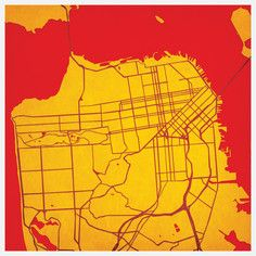 San Francisco Map Print, $35, now featured on Fab. #newapartment