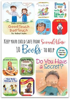 How to go about talking to children about sexual abuse, and what to tell them? Books help - Sharing 10 books to help keep your child safe from sexual abuse . Teach her/him about good touch, bad touch. About knowing what parts of his body are private, off-limits to anyone but themselves. A must buy!