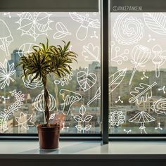 It's a bit windy, let nature blow against your window with this autumny Minimalist Window, Window Markers, Chalk Design, Mural Wall Art, Window Art, Chalk Art, Stencils, Fall Decor, Autumn Nature