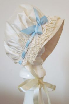 blue baby bonnet